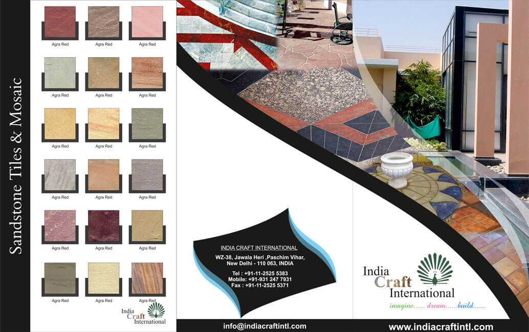 Three-fold Brochure Outer Side Design for Stone Wholesaler - India Craft INTL