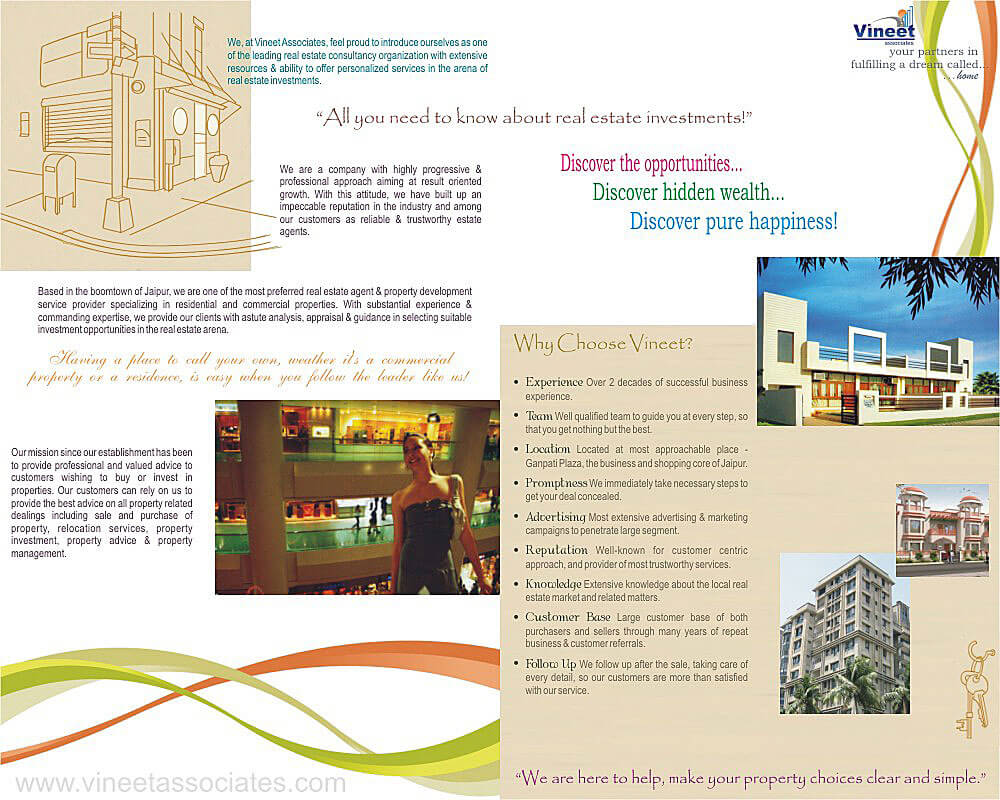 Real Estate Brochure Design Inner Side - Vineet Associates