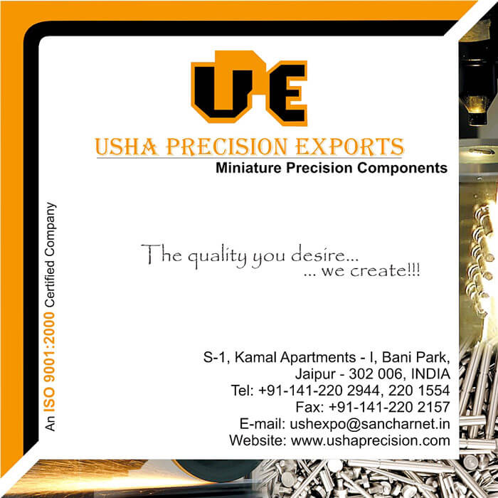 Small CD Cover Design - Usha Precision