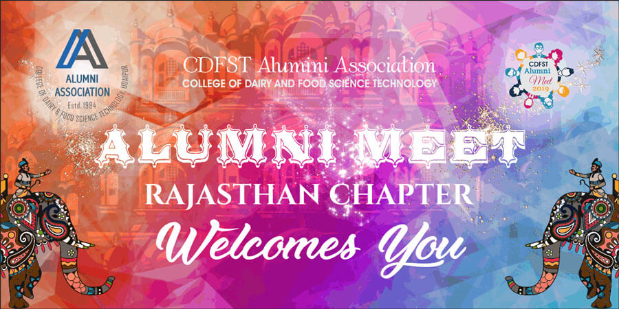 Poster Designing for Alumni Meet - College of Dairy and Food Science Technology: Rajasthan Chapter