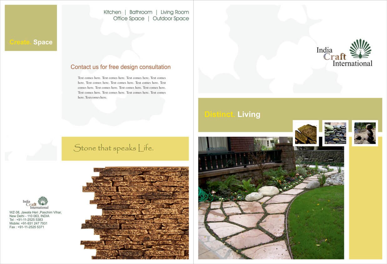 Stone Wholesaler Folder Design Front and Back - India Craft INTL