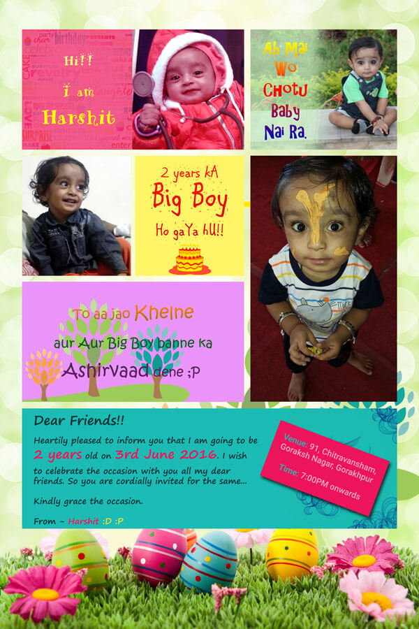 Invitation Card Design for Birthday